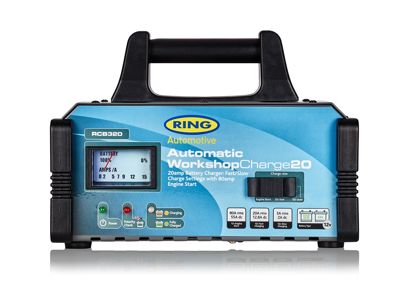RCB320 | 12V 20A Fully Auto Battery Charger