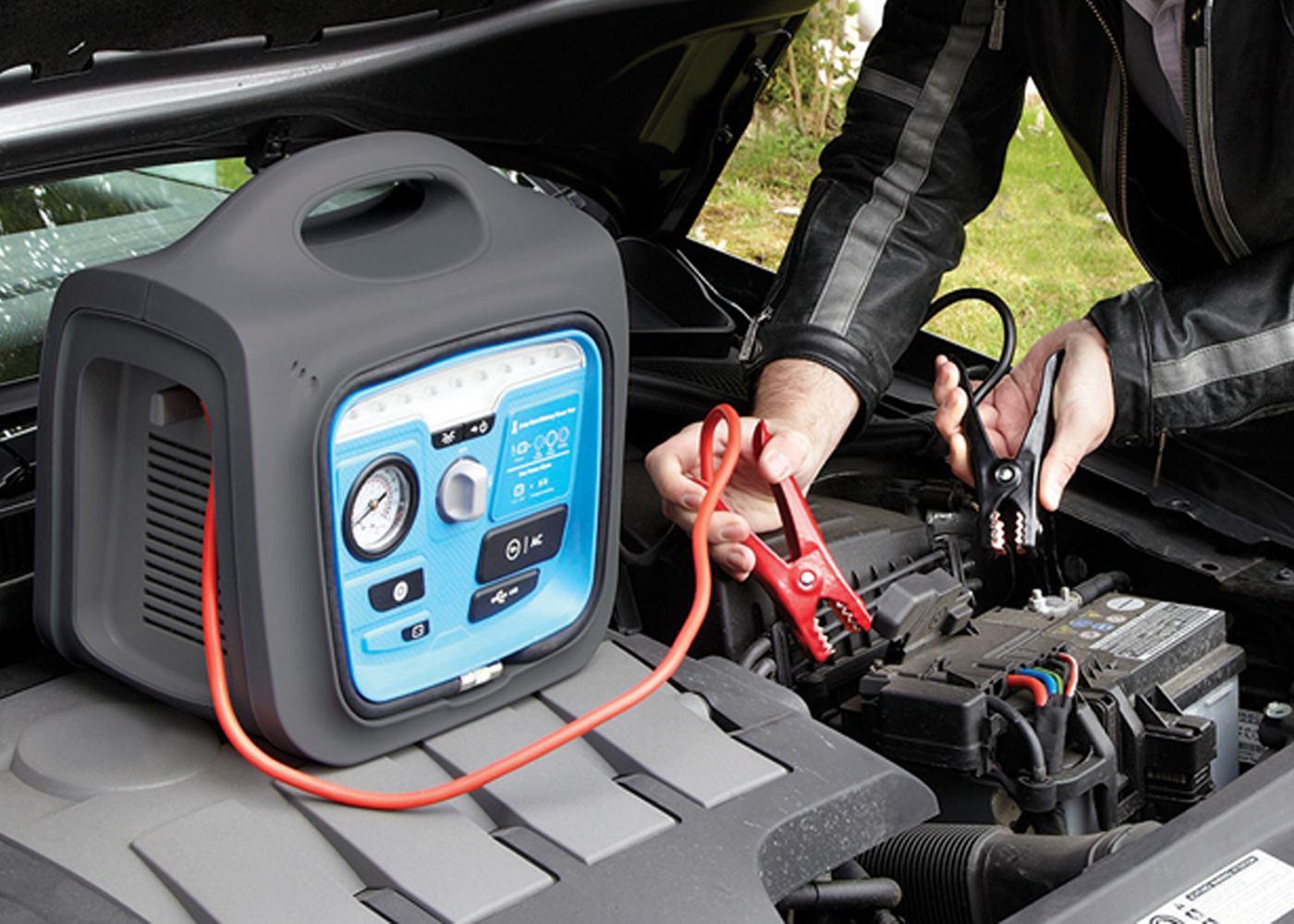 LED Work Light /& Compressor Ring Automotive RPP170 Power Pack Jump Starter USB