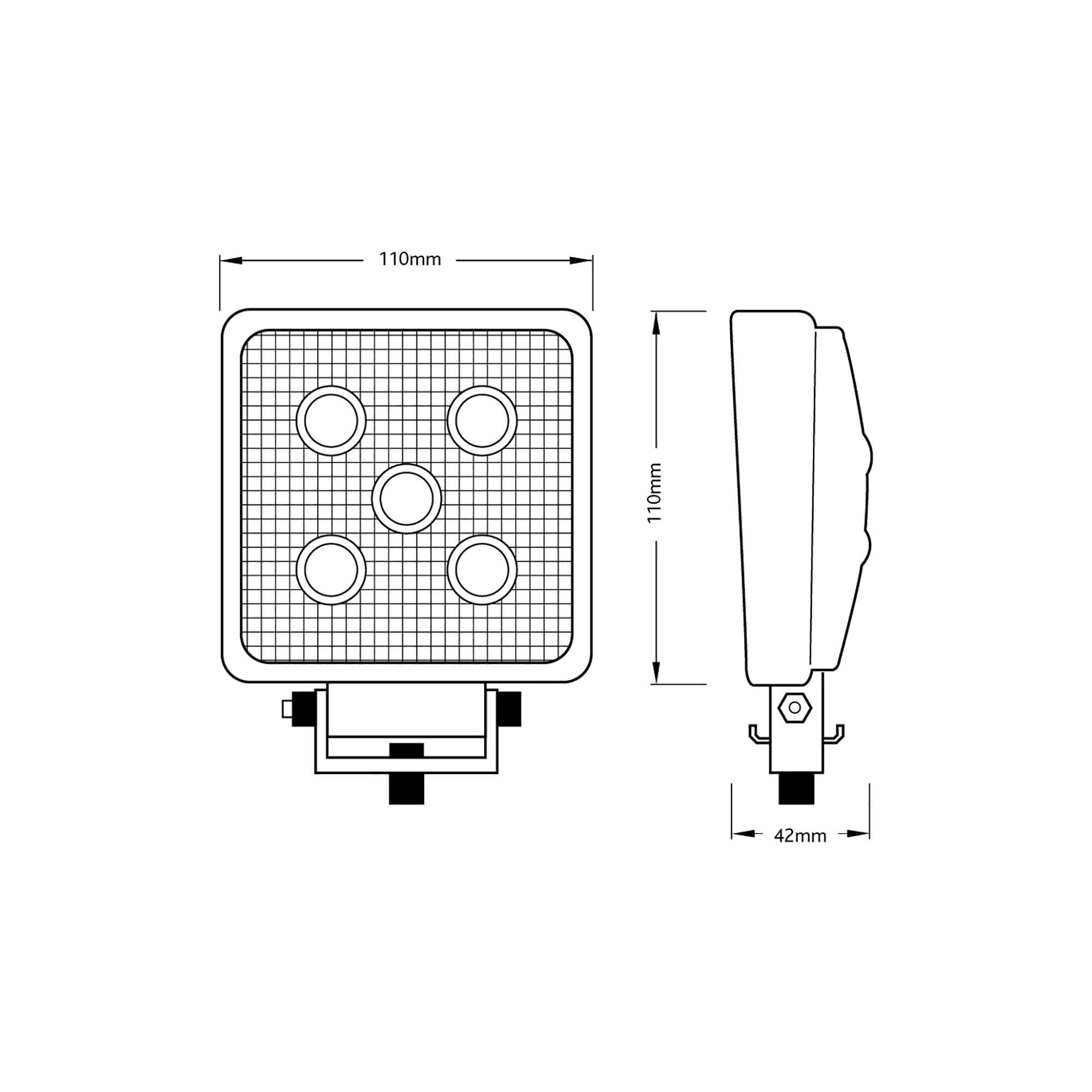 RCV9596 LED Flood Work Light tech spec