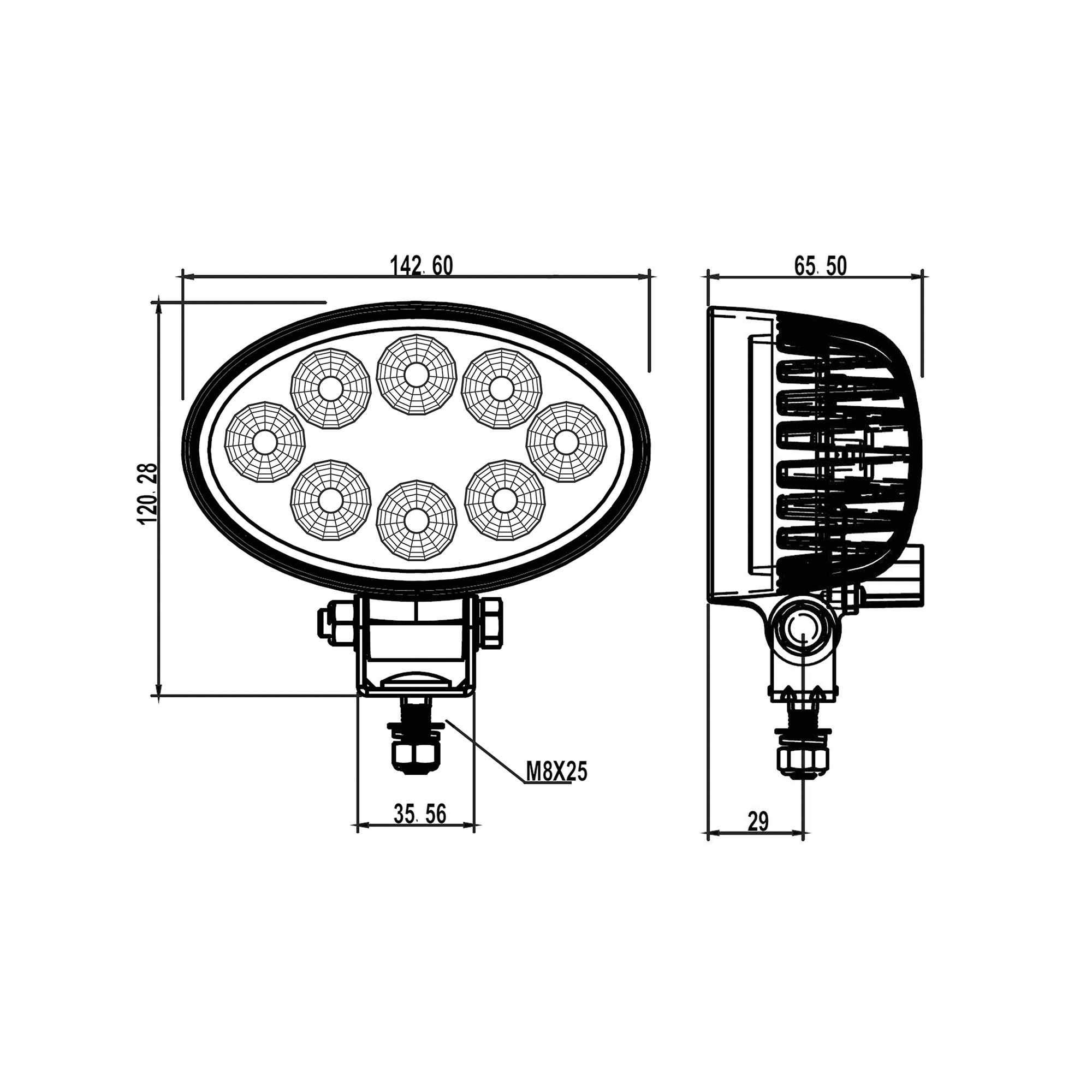RCV9603 TruckMaster LED Flood Work Light